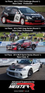 2014 MLR Sprint winning Evo6 leads with Mocom Racing's race winning touch